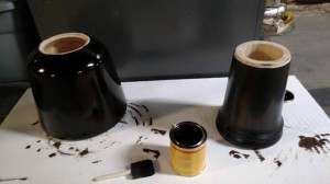 Stained drum in two pieces