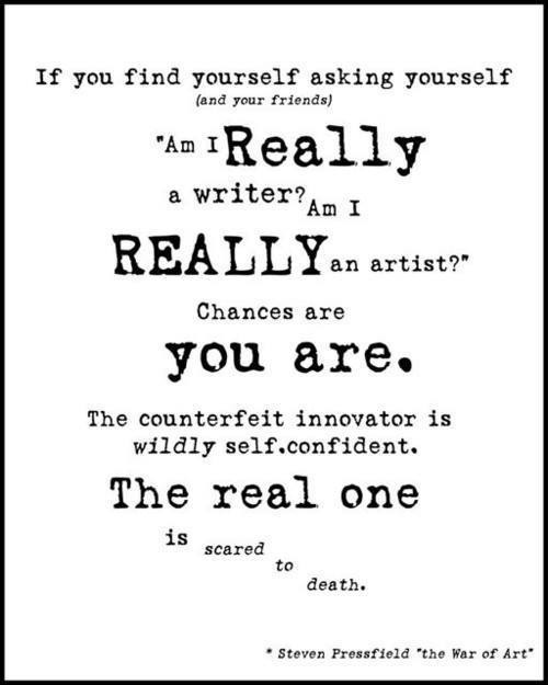 Scared Artist Quote